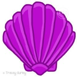 Mauve clipart seashell