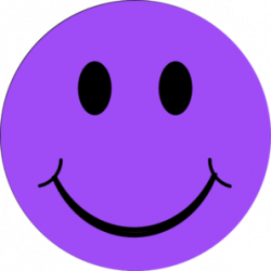 Mauve clipart smiley face