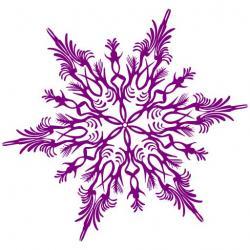Mauve clipart snowflake