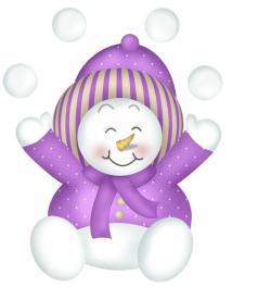 Mauve clipart snowman