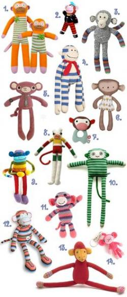 Mauve clipart sock monkey