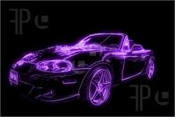 Mauve clipart sports car