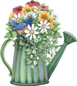 Watering Can clipart spring bouquet