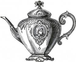 Drawn teapot victorian