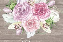 Mauve clipart wedding bouquet