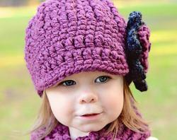 Mauve clipart winter hat