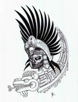 Aztec Warrior clipart mexican