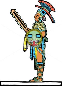 Aztec Warrior clipart maya