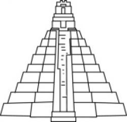 Mayan clipart black and white