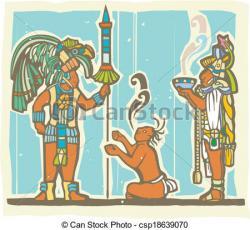 Mayan clipart mural