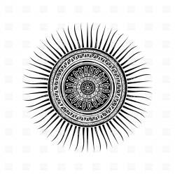 Mayan clipart sun god