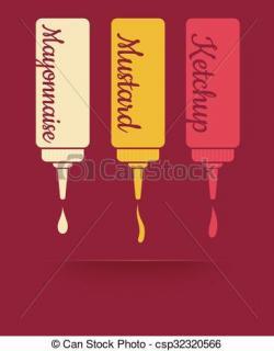 Mayonnaise clipart Mustard Clipart