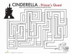 Maze clipart cinderella