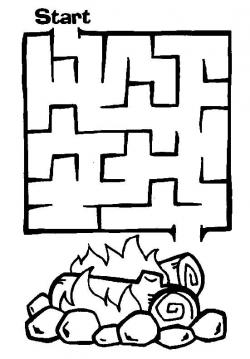 Drawn maze cereal