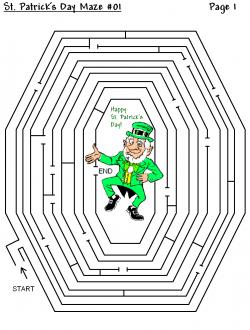 Maze clipart st patrick's day