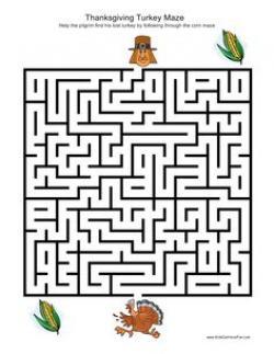 Maze clipart turkey