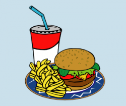 Burger clipart burger chip