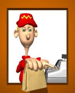McDonald's clipart worker