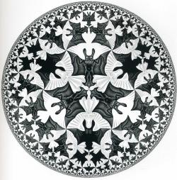 M.c.escher clipart bat