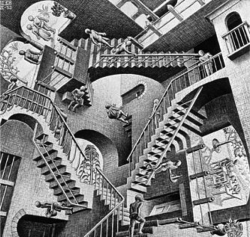 M.c.escher clipart brain