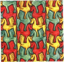 M.c.escher clipart dinosaur