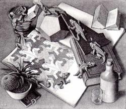 M.c.escher clipart doll