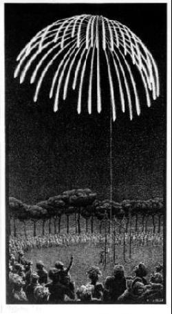 M.c.escher clipart firework