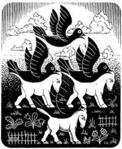 M.c.escher clipart horse