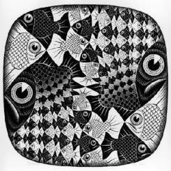 M.c.escher clipart owl