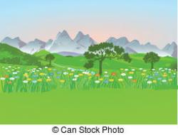 Panorama clipart meadow
