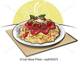 Sauce clipart spaghetti and meatball