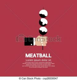 Meatball clipart skewer
