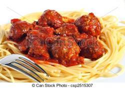Sause clipart spaghetti and meatball