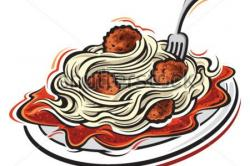 Meatball clipart spagetti