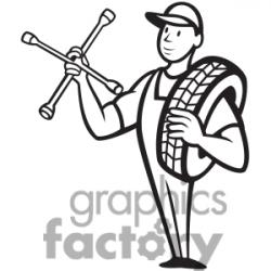 Mechanical clipart black and white