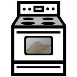Gas Cooker clipart stove fire