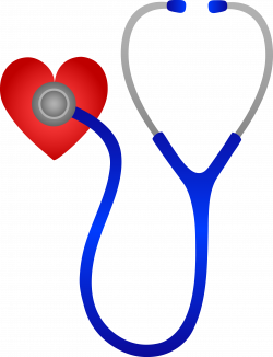 Pulse clipart heart stethoscope
