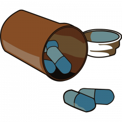Pills clipart medicine bottle