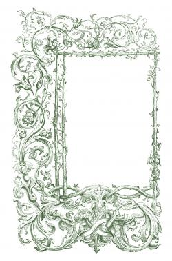 Thorns clipart antique frame