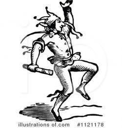 Jester clipart vintage