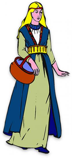 Woman Warrior clipart medieval farmer