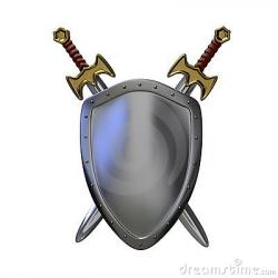 Medieval clipart sword and shield