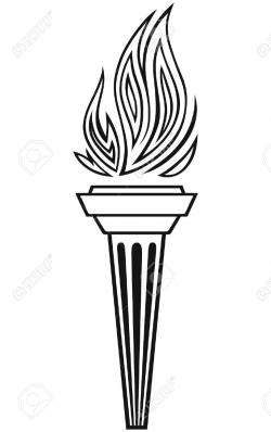 Drawn torch greek