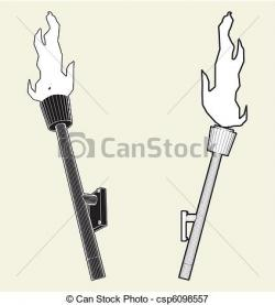 Drawn torch medieval