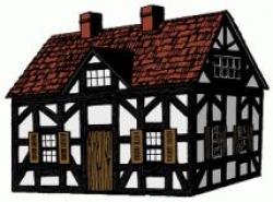 Lodge clipart tudor house