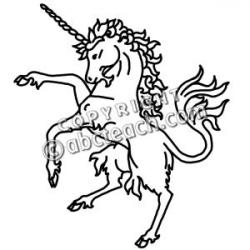 Medieval clipart unicorn