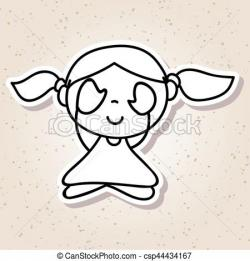 Meditation clipart abstract