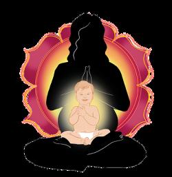 Meditation clipart baby yoga