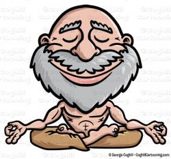 Meditation clipart cartoon