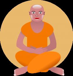 Monk clipart meditating